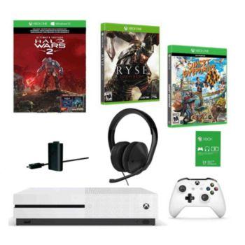 Microsoft Xbox One S 1TB Halo Wars 2 Console w/2 Games