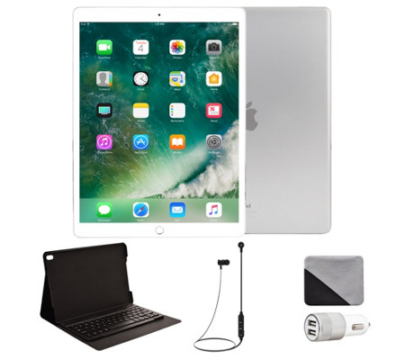 "Apple iPad Pro 10.5"" 256GB Cellular & Accessories - Silver"