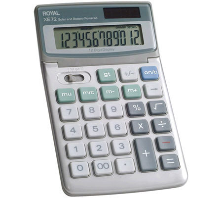 Royal XE72 12-Digit Desktop Calculator