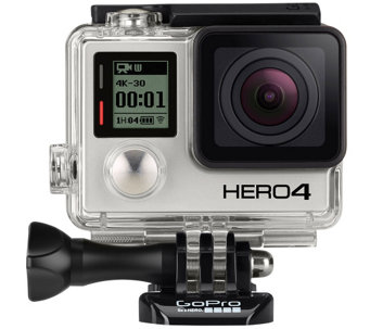 GoPro HERO4 Black with 8 Piece Accessory Kit - E229470