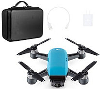 DJI Spark 1080p HD Drone Selfie Modes, Gesture Control & Travel Kit - E231370