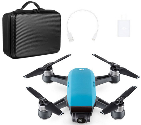 DJI Spark 1080p HD Drone Selfie Modes, Gesture Control & Travel Kit