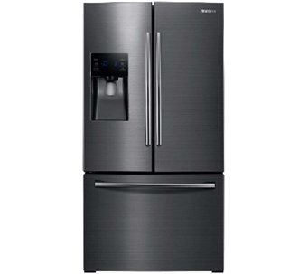 Samsung 24.6 Cubic Ft Black Stainless French Door Refrigerator - E285770