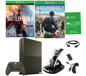 Xbox One S Special Edition Battlefield 1 Bundlew/ Watchdogs 2 - E290270
