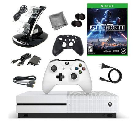 Xbox One S 500GB Console with Star Wars Battlef ront II & More