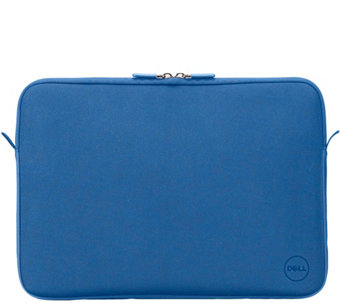 "Dell 15"" Blue Neoprene Sleeve Carry & Protect w/ Soft Lining, Metal Zipper - E228971"