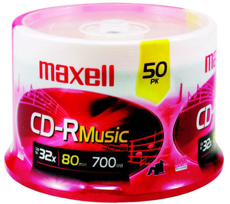Maxell 80-Minute/700MB CD-R Music - 50 Pack