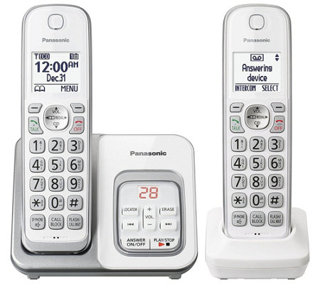 Panasonic Expandable Cordless Phone with 2Handsets