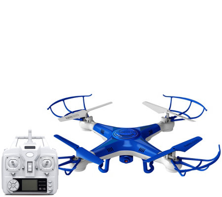 Quadrone Pro Cam Drone w/ Video, Photo Flip Stunts, 2 Extra Batteries