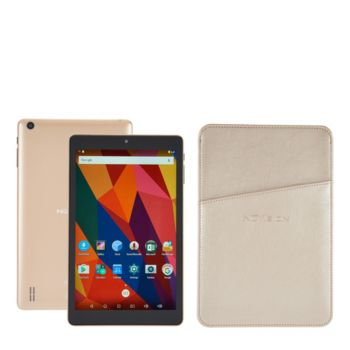 NuVision 8 HD Android 16GB QuadCore Tablet w/ Leatherette Case & Vouchers