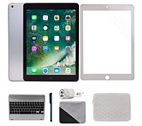 "Apple iPad 9.7"" 32GB Wi-Fi Tablet with Patterned Bag and More - E231472"