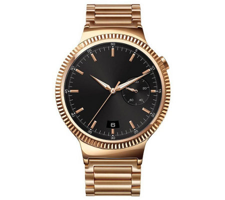 Huawei Smartwatch - Rose Gold with Metal Link Band