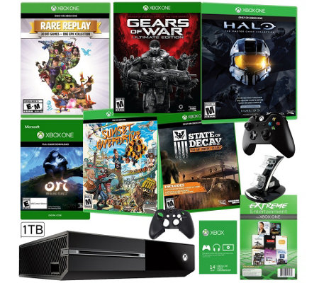 Xbox One 1TB Bundle with 6 Games and App Pack