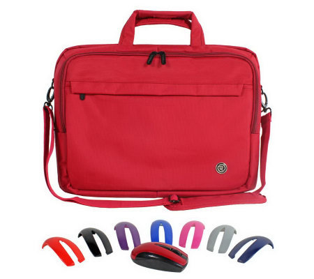 "ToteIt! Deluxe 15"" Laptop Case & ClickIt! Switch Lid Mouse"