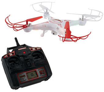 Striker Drone w/ Video Camera Apps, 2GB SD, Spare Parts, Stunts, Charger - E229373