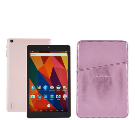"NuVision 8"" HD Android 16GB Quad Core Tablet with Case & Software"