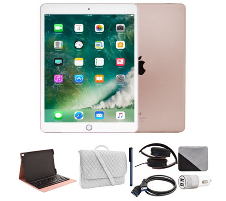 "Apple iPad Pro 10.5"" 64GB WiFi Tablet w/ Bag & Portfolio Keyboard Case"