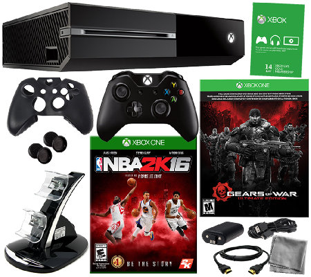 Xbox One Gears of War Bundle w/ NBA 2k16 and Accessories