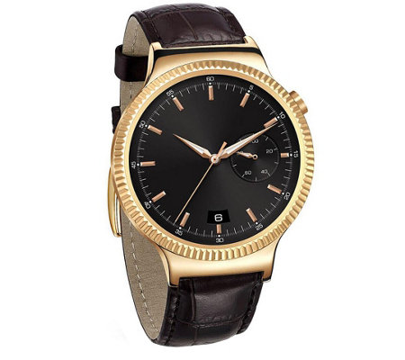 Huawei Smartwatch - Rose Gold with Brown Leather Band