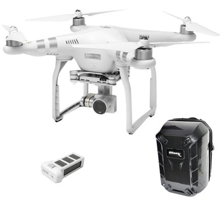 DJI Phantom 3 Advanced Drone with Extra Battery& Backpack Cas