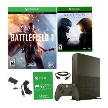 Xbox One S 1TB Special Edition Battlefield 1 Bundle w/ Halo 5