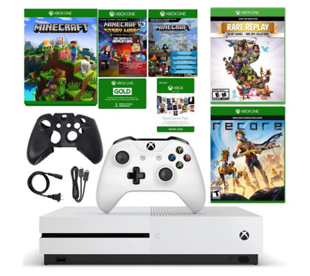 Xbox One S 500GB Minecraft Bundle with ReCore &Rare Replay