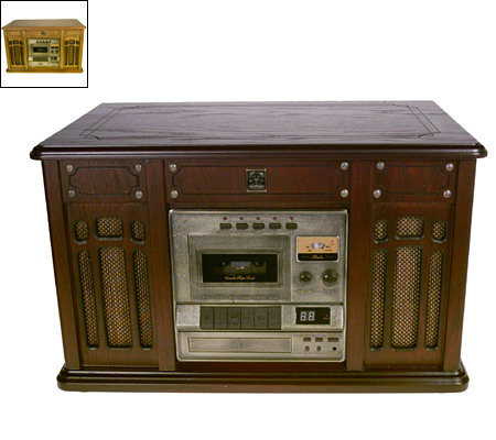 Thomas Pacconi Phonograph w/ CD & Cassette Players and AM/FM Radio