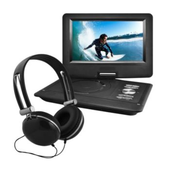 Ematic 10 Swivel Portable DVD with Headphones