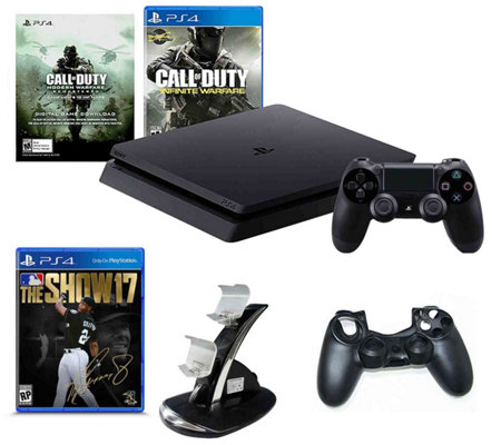 PlayStation 4 Slim 500GB with Call of Duty & MLB 17 The Show