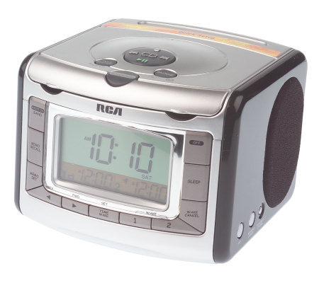 rca stereo clock radio w cd player automatic time set. Black Bedroom Furniture Sets. Home Design Ideas