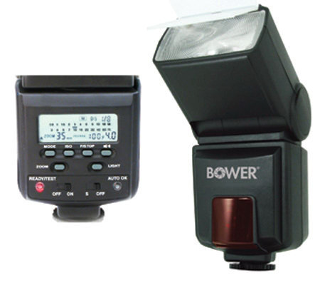 Bower Flash w/ LC Compatible for Canon DigitalSLR E-TTL I/II