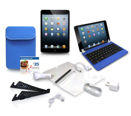Apple iPad mini 16GB WiFi with Keyboard, Neoprene Sleeve 7pc Accessory K