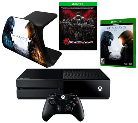 Xbox One 500GB Gears of War UltimateEdition Bundle with Halo 5