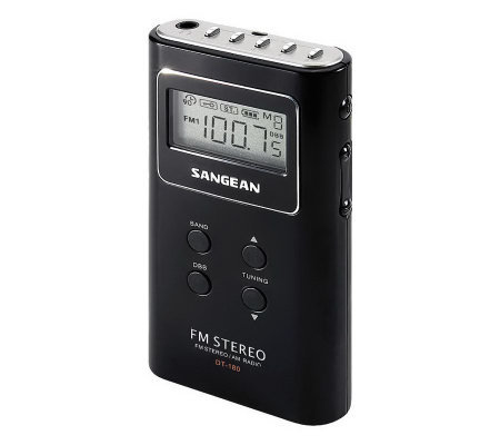 Sangean FM Stereo/AM PLL Synthesized Pocket Receiver