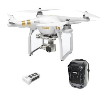 DJI Phantom 3 Professional Drone w/Extra Battery & Backpack - E287976