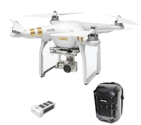 DJI Phantom 3 Professional Drone w/Extra Battery & Backpack