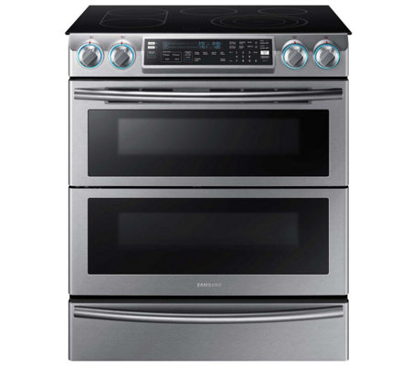"Samsung 30"" Flex Duo Electric Range - StainlessSteel"