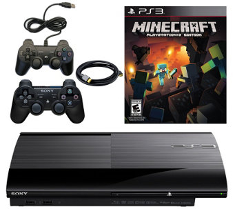 Sony PS3 Slim 500GB Console With Minecraft & Accessories - E290276
