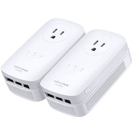 TP-Link Three-Port Gigabit Passthrough Powerline Starter Kit