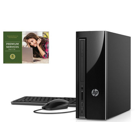 HP Slimline Desktop - AMD E2-9000, 4GB RAM, 1TBHDD