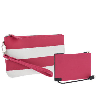 HALO wristlet w/ 3000 mAh Cell Phone Charger & RFID Technology - E225977