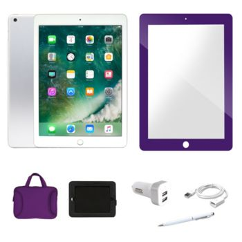 Apple 2017 iPad 32GB Wi-Fi with Carry Case ScreenProtector & Addt Software