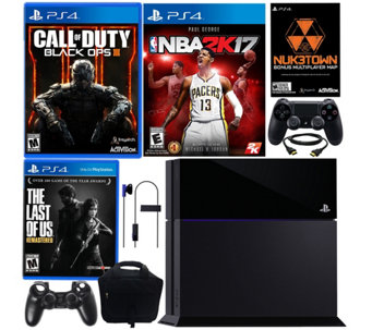 Sony PlayStation 4 500GB Bundle with Three Games & Accessories - E290077