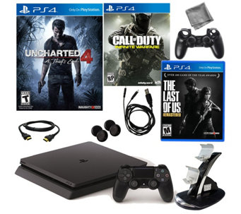 Sony PS4 Slim 500GB Uncharted Bundle with Callof Duty & More - E290177
