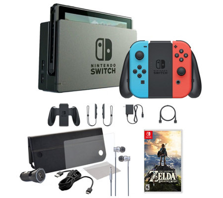 Nintendo Switch Console with Legend of Zelda: Breath of Wild