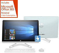 "HP 24"" Touch All-in-One PC AMD A9, 1TB HDD w/ Office 365 & Software Kit - E231378"
