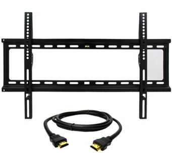 "MegaMounts Fixed 32"" to 70"" TV Wall Mount with HDMI Cable - E287478"