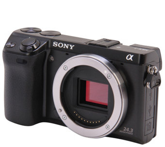 Sony Alpha a6000 24.3 MP Mirrorless Digital Camera - Body Onl - E287678
