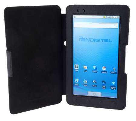 "Pandigital 9"" Touch Screen ColorMultimedia WiFi eReader with Case"