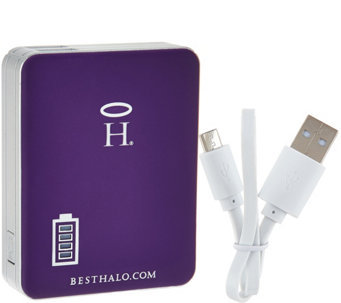Halo Square 5200 mAh Portable Cell Phone and Tablet Charger - E229879